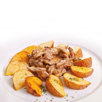 Картопля з телятиною