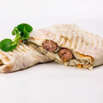 Супер хот-дог в лаваші (2 сосиски)